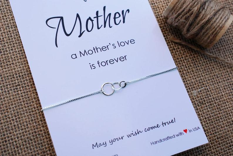 Mom Bracelet Mothers day Gift for Mom Bracelet Mother Bracelet Inspirational Gift Mom Sterling Silver Circle of Life Wish Bracelet For Mom
