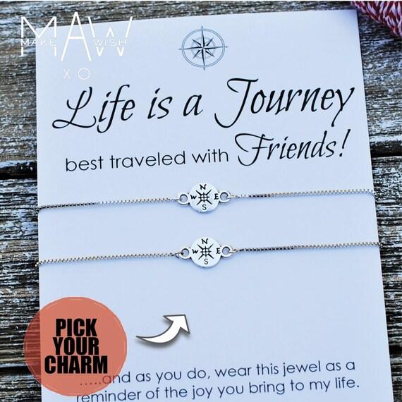 Hope Anchors the Soul Bar Sisters Are Best Friends Forever Engraved Bracelet