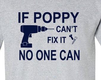 Grandpa Shirt If Grandpa Can't Fix It No One Can Grandpa Papa Pops Shirt