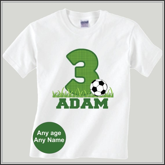 Boys Personalized Soccer Birthday Shirt Sports Birthday ...