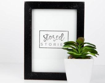 5x7 Storage Picture Frame-Black