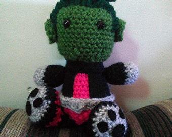 Beast Boy Teen Titans Go Crochet Doll