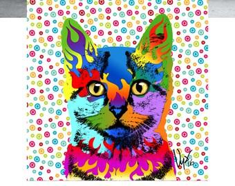 Cat Wall Art Cat Art Cat Decor cat print cat art print cat poster cat lover gift cat wall decor cat gift home decor cat lover cat artwork