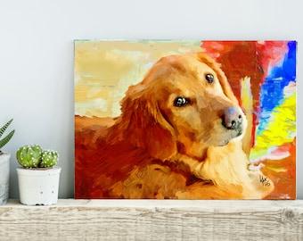 Golden Retriever Art Golden Retriever Dog art retriever print print dog print dog wall art retriever art dog lover retriever painting dog