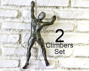 Wall Sculpture Climber Climbing Man wall climber wall decor mountain climber home decor gift interior design contemporary artwork illusion