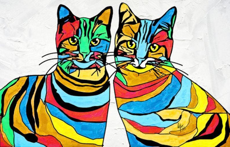 Pop art painting Custom dog art Custom cat portrait Custom pet art,Custom pet painting Cat lover gift Custom cat portraits Custom gift