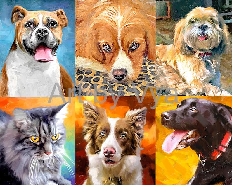 899ed1c16fcf Custom Pet Portrait Painting Etsy Dog Portrait Boxer or your | Etsy
