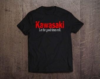 Kawasaki 'Let the good times roll' T Shirt
