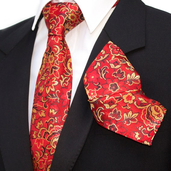 Unique necktie pink blue mens gift set 1 of only 1 made Paisley Limited Edition Mens silk tie and cufflinks set