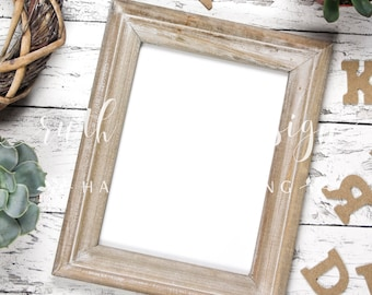 Letters Frame stock photo, flat lay background for Hand-Lettering