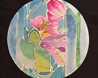 Silk Painting of Flowers