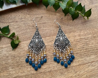 Boho Earrings Ethnic Earrings Tribal Earrings Bohemian Earrings Chandelier Earrings Statement Earrings Gypsy jewelry Bohemian Jewelry