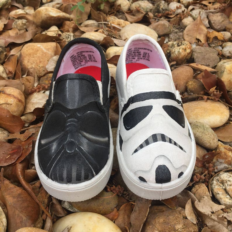 8da0c67225b12 KIDSHand Painted StarWars inspired canvas shoes- made to order!- Vans