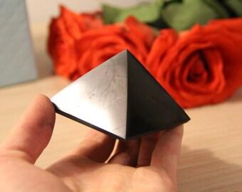 Shungite pyramid, stone crafting, schungit energy stone, EMF protection, healing stone, chakra, Christmas Sale