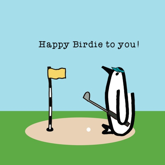 Happy Birdie Penguin Birthday Golf