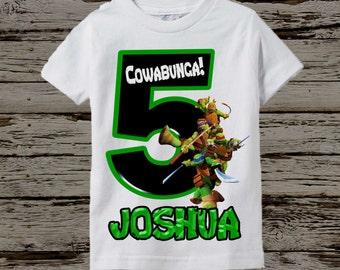 Ninja Turtles Birthday Shirt - TMNT Birthday Shirt