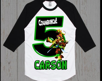 Ninja Turtles Birthday Shirt - Teenage Mutant Ninja Turtles Birthday Shirt