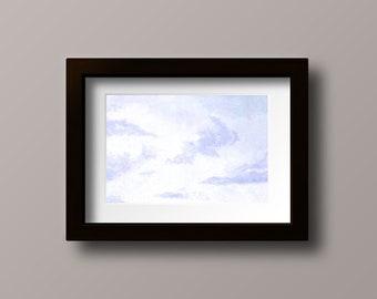 Cloud Painting Print - Cloud Print - Cloud Oil Painting - Sky Print - Sky Painting - Nursery Decor - Purple Bedroom Decor - Cloud Wall Art