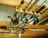 articles similaires 6 porte canne p che et moulinet plafond horizontal rangement de garage. Black Bedroom Furniture Sets. Home Design Ideas