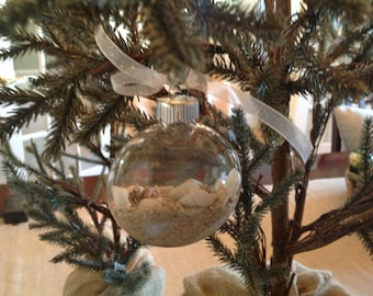 Christmas Ornaments, Shells, Set Of Two
