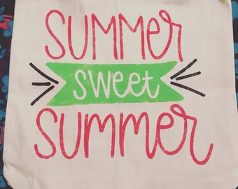 Summer Sweet Summer Canvas Tote