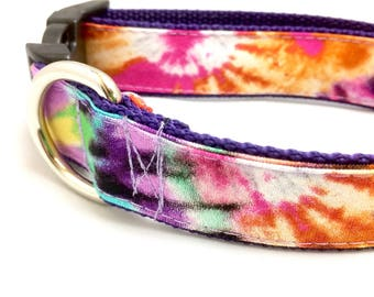 Tie Dye Dog Collar | Tie Dye Leash | Tie Dye Harness | Step In Harness | Hipster Dog Collar | Personalized Dog Collar | Rainbow Dog Collar