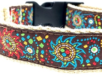 Southwest Sun Dog Collar | Southwest Leash | Hipster Dog Collar | Step In Harness | Personalized Dog Collar | Hipster Harness and Leash
