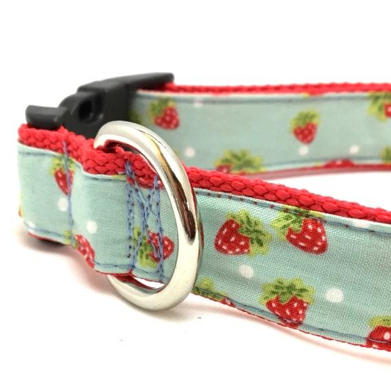 Erdbeere Hundehalsband Erdbeere Hundegeschirr und Leine   Etsy