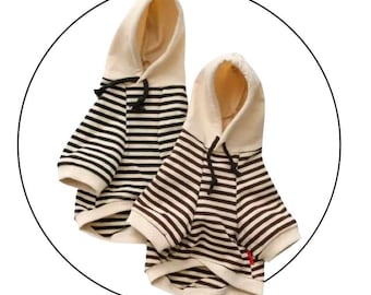 Striped Dog Hoodie Shirt