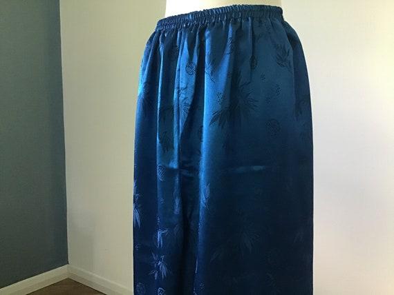 Oriental Blue Silk pyjamas UK M.100% Silk.Beautif… - image 2