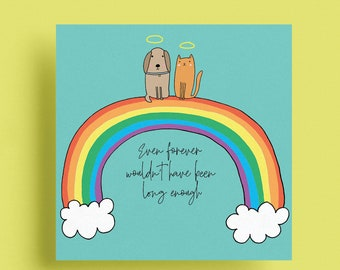 Sympathy card for pet loss - Sorry for the loss of your pet, loss of your dog, loss of your cat