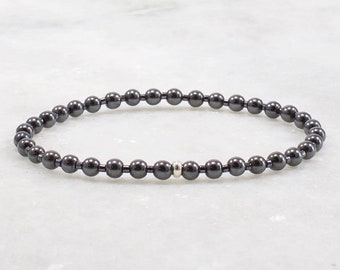 a75ccc2eafff5 Hematite bracelet | Etsy