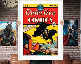 Classic Batman First Appearance - Comic Book Cover Boys Geek kids man cave nerds bedroom office nursery superhero