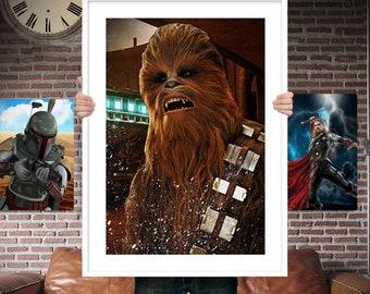 Chewbacca  - Star wars - PRINTED Boys girls Geek kids man cave nerds bedroom office