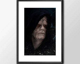 Emperor Palpatine Darth Sidious - Star wars inspired Print