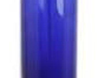 Plastic Bottles, 8 oz. Blue Tall with Disc Top Caps - Qty 12