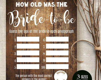Meet the bridesmaids sign printable rustic signs meet the etsy how old was the bride game printable bridal shower rustic templates instant download files a514 607 m4hsunfo