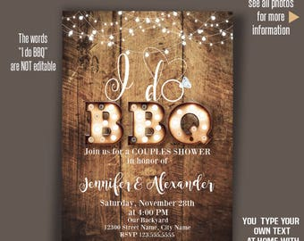 bbq invitation etsy