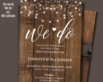 Rustic wedding invitation template etsy we do invitation printable wedding invite rustic wedding templates instant download self editable pdf a207 maxwellsz