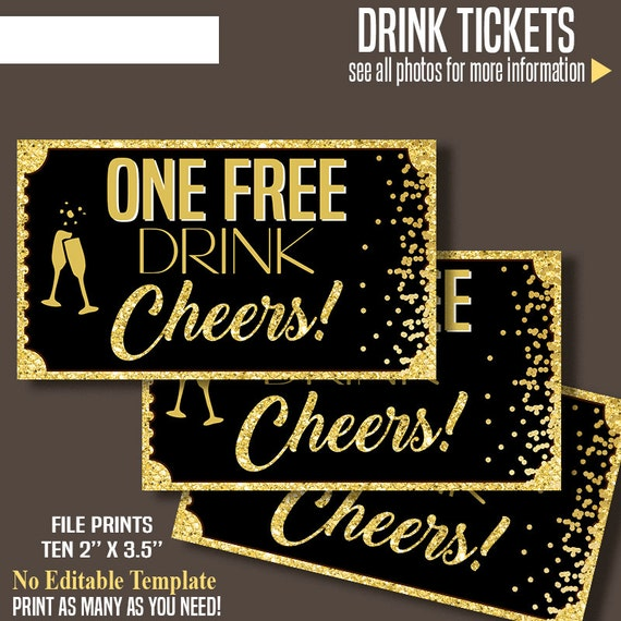 printable free drink tickets drink tickets 2 x etsy