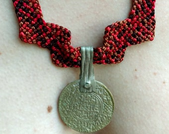 Smart Ethnic Necklace with Antique Berber coin