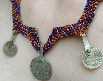 Antique Berber Coins Boho Necklace