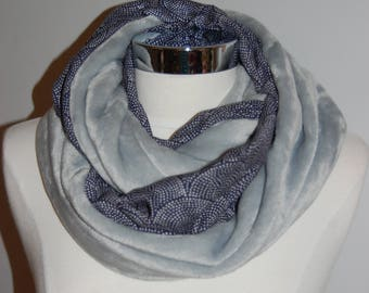 72caa4df70d7 Snood doudou Gris perle   petits points