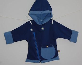 Shell Pixie hooded coat - blue Uni