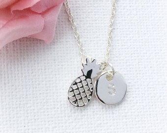 Silver Pineapple Necklace, Pineapple necklace, Pineapple jewellery, pineapple pendant, pineapple, , personalized jewellery,