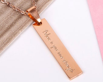 07293d62452 courage necklace, feminist necklace strength and courage jewelry, strong women  jewellery, hope inspiration, friendship mantra, cancer gift