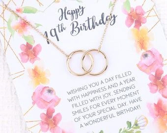 19th Birthday Gift Turning 19 Born In 2000 2001 Birth Year Teenager Gifts For Her Ideas