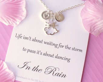 sunshine necklace, you are my sunshine, sunshine gift, storm necklace, Message card necklace, inspirational message necklace, christmas gift