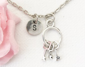 Key necklace, key necklace, key jewellery, key jewelry, key, Personalised jewelry, , handmade necklace,SPINKEY01, , mothers day gift