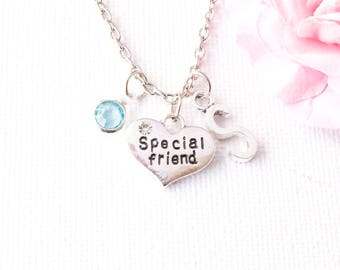 special friend necklace, friendship necklace, bff necklace, best friend gift, best friend jewelry, friendship jewelry, best friends